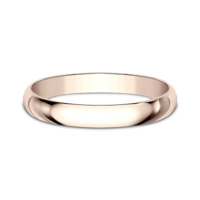 Womens 2.5mm 14K Rose Gold Wedding Band