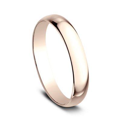 Womens 3mm 14K Rose Gold Wedding Band