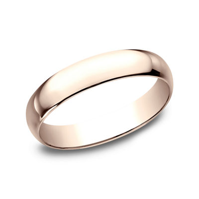 Womens 4mm 14K Rose Gold Wedding Band