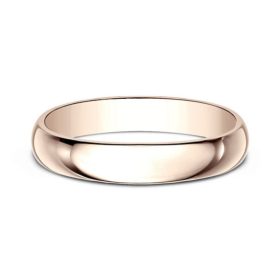 Womens 4mm 14k Rose Gold Wedding Band