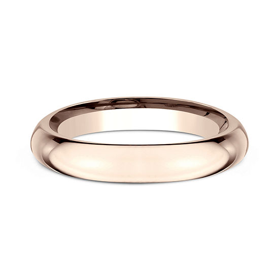 Womens 14K Rose Gold 3MM High Dome Comfort-Fit Wedding Band