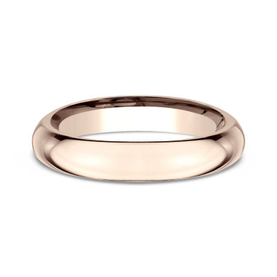 Womens 14K Rose Gold 4MM High Dome Comfort-Fit Wedding Band