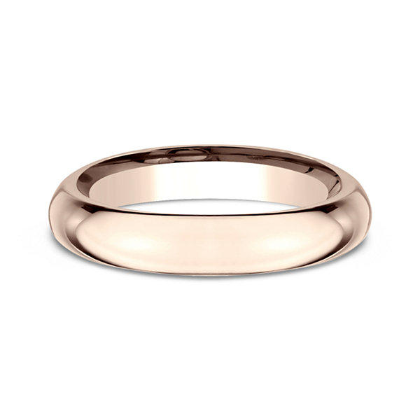Womens 14k Rose Gold 4mm High Dome Comfort Fit Wedding Band