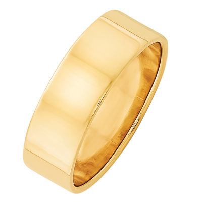 Personalized Womens 7mm 14K Gold Band
