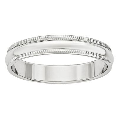 Personalized Womens 4mm 14K Gold Band