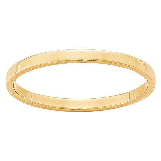 Womens 2mm 14k Gold Wedding Band