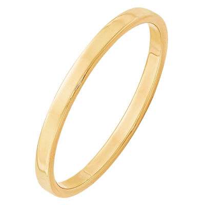 Womens 2mm 14K Gold Band