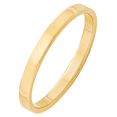 Mens 2.5mm 14K Gold Band