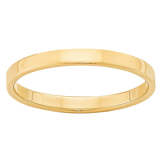 Womens 4MM 14K Gold Wedding Band