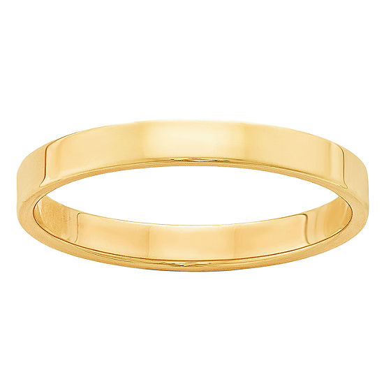 Womens 3mm 14k Gold Wedding Band