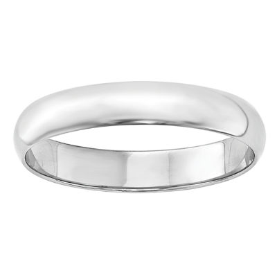 Personalized Mens 4mm 14K Gold Band