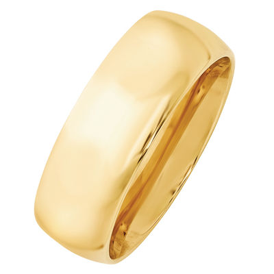 Personalized Womens 8mm 14K Gold Band