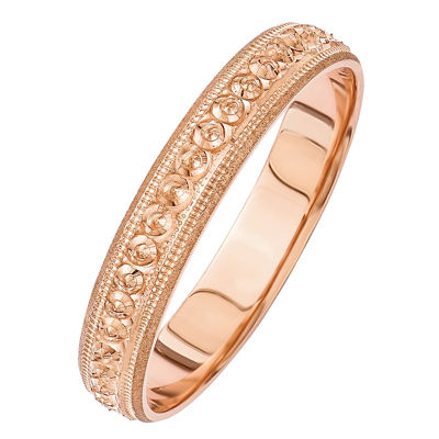 Womens 14K Gold Wedding Band
