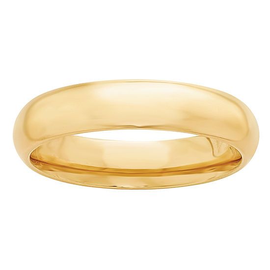 Personalized 5MM 14K Gold Wedding Band