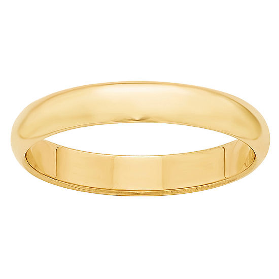 Personalized Womens 4MM 14K Gold Wedding Band