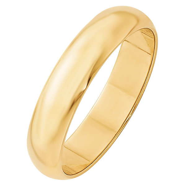 Personalized Mens 14K Gold Wedding Band