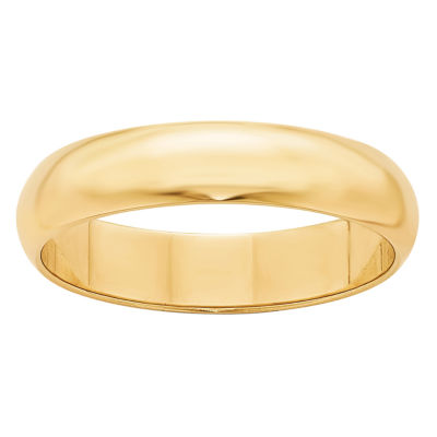 Personalized Womens 5mm 14K Gold Band