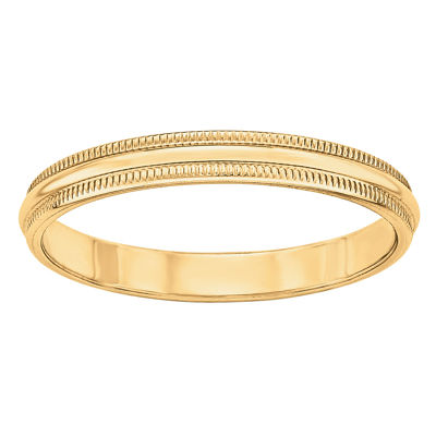 Womens 3mm 14K Gold Band