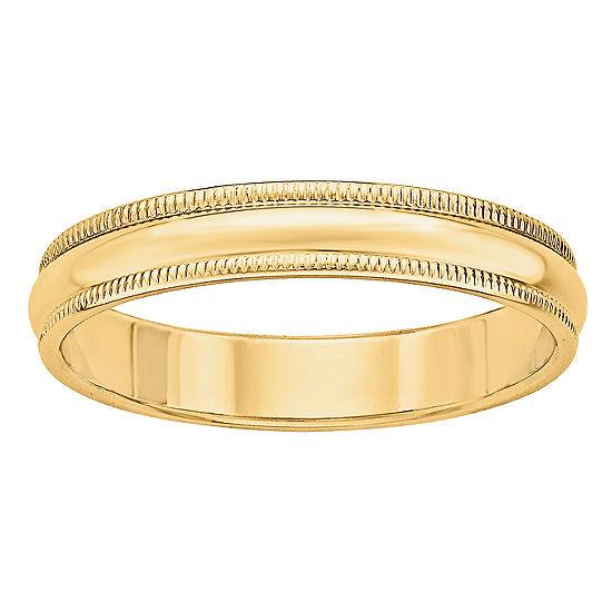 4MM 14K Gold Wedding Band