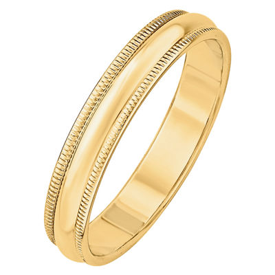 Mens 4MM 14K Gold Wedding Band