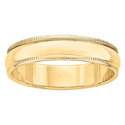 Mens 5MM 14K Gold Wedding Band