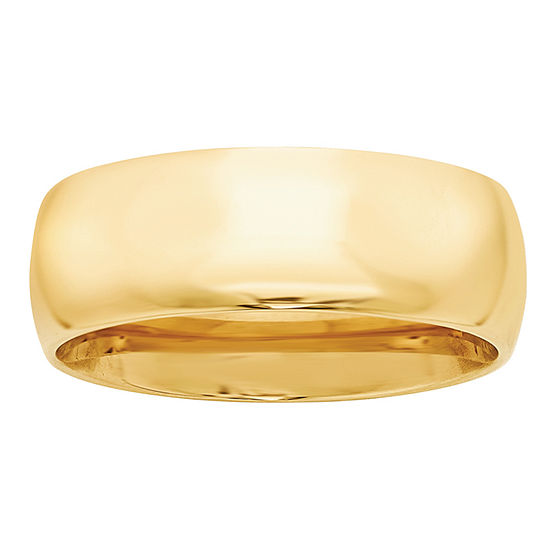 Personalized Mens 8MM 14K Gold Wedding Band