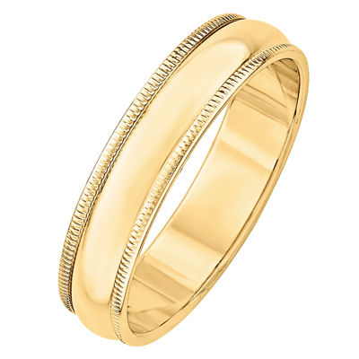 Womens 5MM 14K Gold Wedding Band