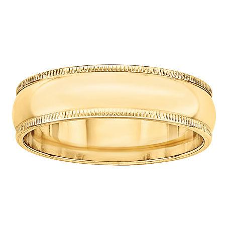 6MM 14K Gold Wedding Band, 4