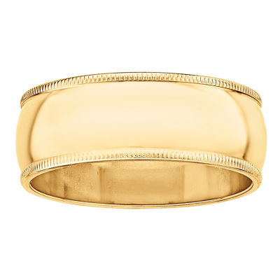 Womens 8mm 14K Gold Band