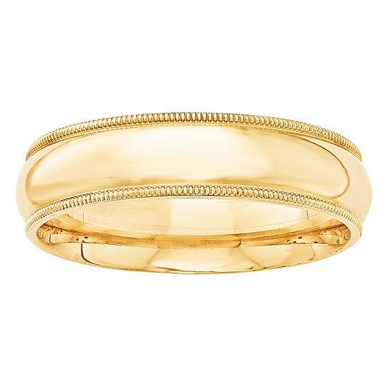 6MM 14K Gold Wedding Band