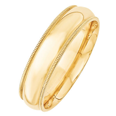 Womens 6mm 14K Gold Band