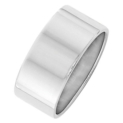 Mens 10mm 14K Gold Band