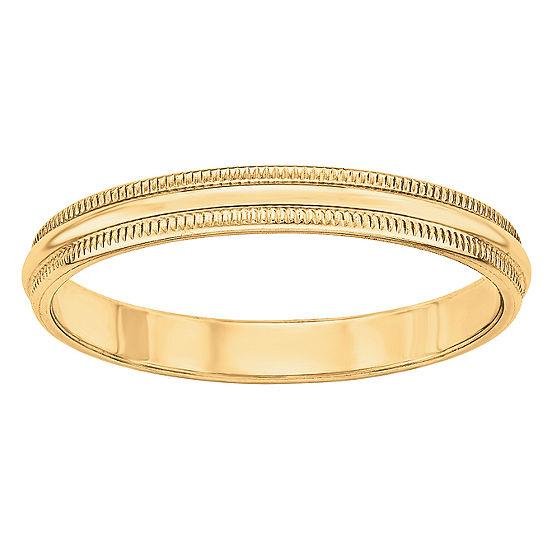 Mens 3MM 14K Gold Wedding Band