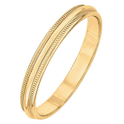 Mens 3MM 14K Gold Wedding Band