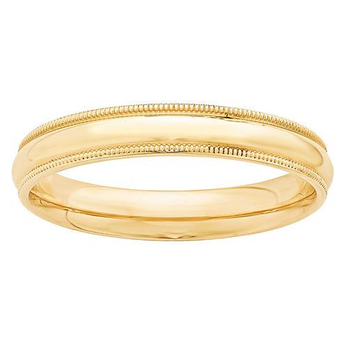 Personalized Womens 14K Gold Wedding Band