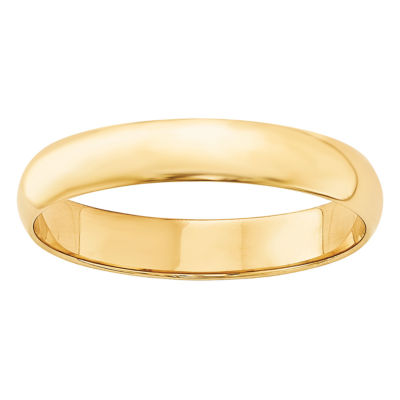 Personalized Mens 4MM 14K Gold Wedding Band