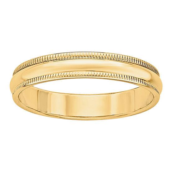 Mens 4MM 14K Gold Wedding Band