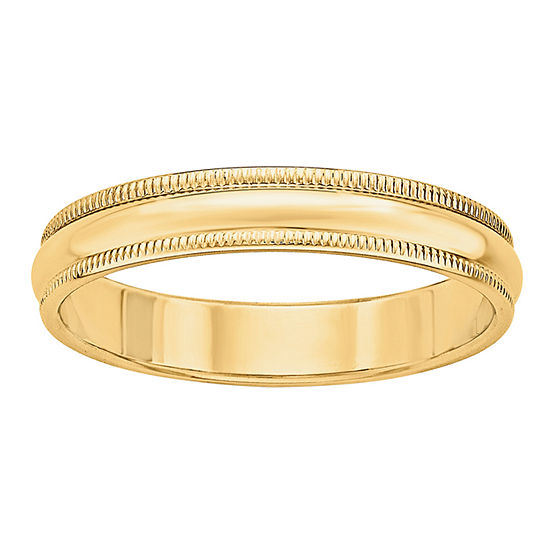 Womens 4mm 14k Gold Wedding Band