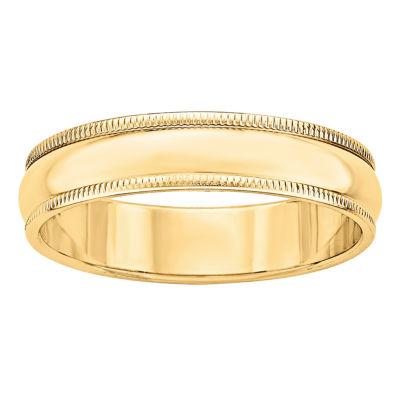 Mens 5mm 14K Gold Band