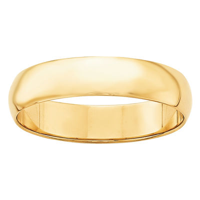 Personalized Mens 5mm 14K Gold Band