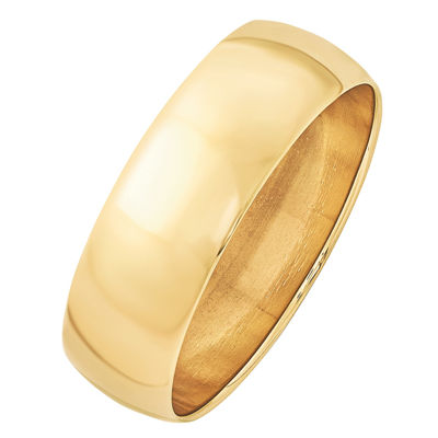 Personalized Mens 7MM 14K Gold Wedding Band