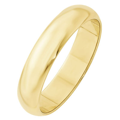 Mens 5mm 10K Gold Band