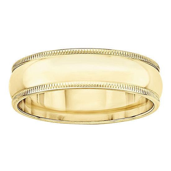 6MM 10K Gold Wedding Band