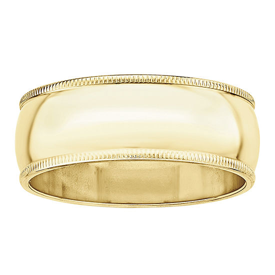 8MM 10K Gold Wedding Band