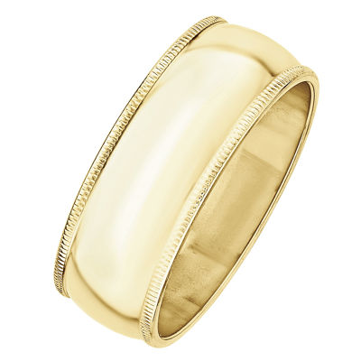 Womens 8mm 10K Gold Band
