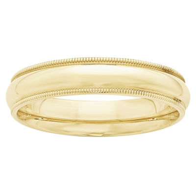 Womens 5MM 10K Gold Wedding Band