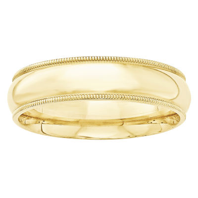 Mens 6mm 10K Gold Band