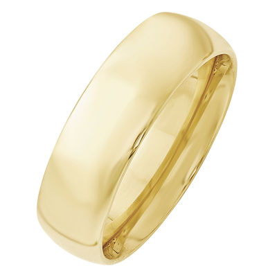 Womens 7mm 10K Gold Band