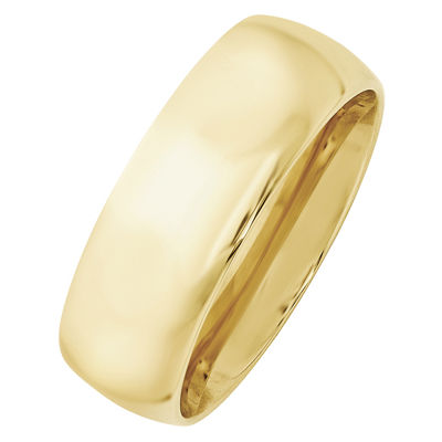 Mens 8mm 10K Gold Band