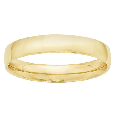 Mens 4mm 10K Gold Band